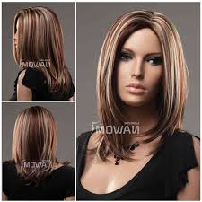 medium lentgh hair with highlights and low lights shoulder length hairstyles with highlights medium length hair with