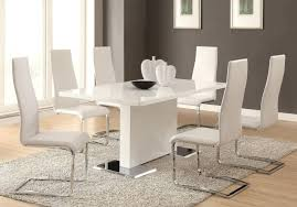 White Furniture Company Dining Room Set Dining Room White Furniture Dining Room White Leather Chairs