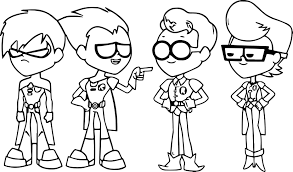 76 Best Images About Stick - teen titans go coloring page teen titans go robin stick coloring