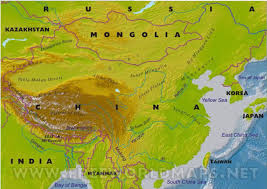 East Asia Physical Map by China U0027s Geographyby Brenna Goodwin Thinglink
