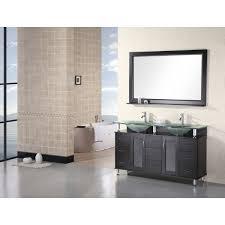 Design Elements Vanity Home Depot Design Element Dec015d Redondo 60 Inch Espresso Finish Double Sink