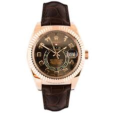 golden rolex pre owned unused rolex skydweller 18ct rose gold men u0027s watch