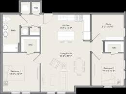 floor plans princeton 2 bed 1 bath w study c merwick stanworth faculty housing