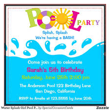 swimming party invitation free designs invitation card gallery