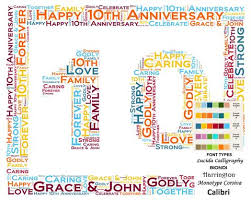 tenth anniversary gifts 10th anniversary gift ideas