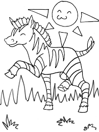 baby zebra coloring pages print 8529