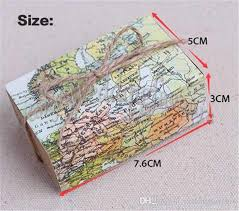 Map Favors by Around The World Map Boxes Traveling Theme Wedding Favors