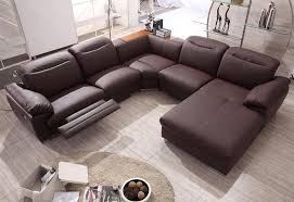 Beige Reclining Sofa Furniture Modern Brown Leather Sectional Reclining Sofa On Vinyl