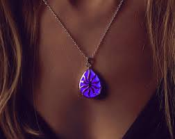 glow in the necklaces purple glowing heart necklace gift necklace gift