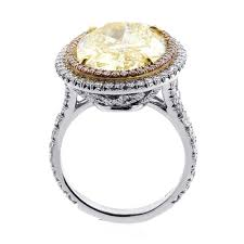 engagement ring prices 11 7 cts light fancy yelow oval cut diamond engagement ring cheap