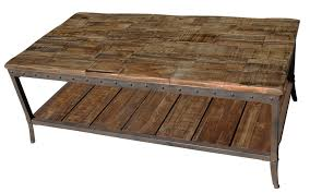 Weathered Coffee Table Reclaimed Wood And Weathered Iron Coffee Table Coffee Table Ideas