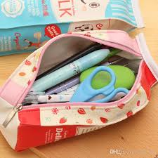 pencil pouches pencil bags milk boxes school supplies holders