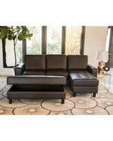 claire leather reversible sectional and ottoman memorial day s hottest sales on abbyson malden tufted leather