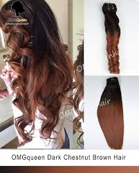ombre extensions ombre chestnut brown clip in hair extensions high quality
