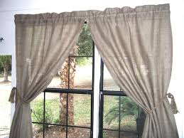 Burlap Window Valance Decorating Burlap Curtains Valance For Fascinating Home