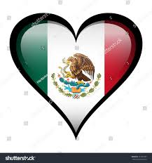 Mexican Flag Eagle Mexico Flag Heart Isolated On White Stock Illustration 121050187