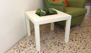 Ikea Lack Hacks Add A Planter Feature To Your Ikea Lack Table