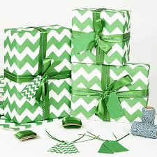 recycled wrapping paper recycled green chevron white wrapping paper by