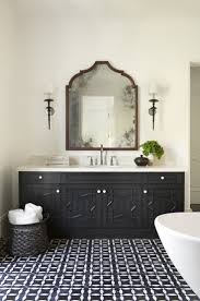best 25 black bathrooms ideas on pinterest black tiles black tile floor black and white basket mirror