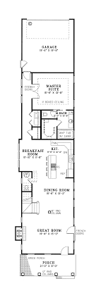 floor plans for narrow lots floor plan of colonial narrow lot southern vacation house