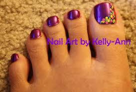 nail art by kelly ann spring toes