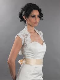 Wedding Dress Jackets Sleeveless Bridal Alencon Lace Bolero Jacket Lace 079