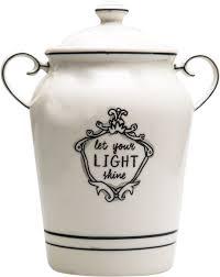 home essentials u201clet your light shine u201d kitchen canister 1 5 qt