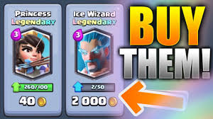 clash royale buy legendary cards get wizard princess