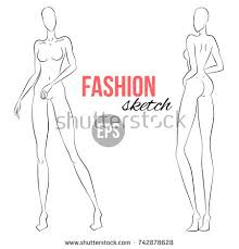 fashion figure template stock images royalty free images