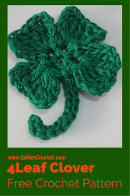 crochet 4 leaf clover
