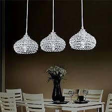 Lighting For Dining Room by Dinggu Chrome Finish Modern 3 Lights Crystal Chandelier Pendant