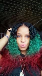 Biafra Flag Makes Her Hair In The Colors Of Biafran Flag Pictures