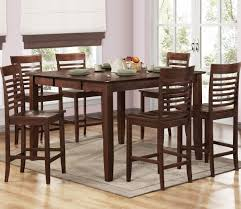 dining room the fancy wooden 7 piece dining room set counter