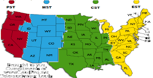 Global Time Zones Map by Daylight Saving Time Dates For Usa Virginia Richmond Between