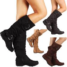 womens boots images womens boots knee high faux suede flat boot fashion slouch stylish
