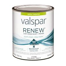 shop valspar renew satin latex interior paint and primer in one