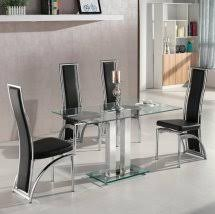 Glass Dining Sets 4 Chairs Glass Dining Table And 4 Chairs Uk Furniture In Fashion