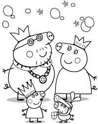 kids peppa pig coloring in pages cartoon coloring pages of