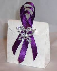 purple wedding favors rhinestone ribbon buckle usage cadburys purple ribbon wedding