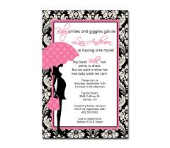 pink and black baby shower invitations iidaemilia com