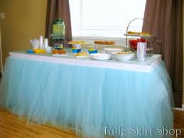 How To Make A Table Skirt by Blue Tulle Table Skirt Tutu Tableskirt For Wedding Birthday