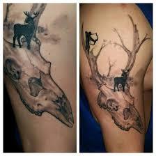 chris brown leg tattoo deer skull tattoo by chrisboehler on deviantart