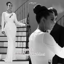 kim kardashian white dress at the kardashian family christmas card