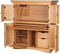 Computer Desk Armoire Oak Handcrafted Armoire Desks From Erik Organic
