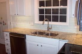 subway tile in kitchen backsplash awesome white glass subway tile kitchen backsplash traditional for