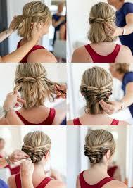 Hochsteckfrisuren Mittellange Haar Einfach by Hochsteckfrisuren Mit Anleitung Für Kurze Haare