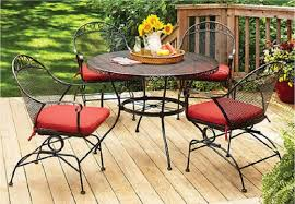 Wrought Iron Patio Dining Set Better Homes And Gardens Clayton Court 5 Wrought Iron Patio