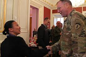 thanksgiving invocation polish partners host thanksgiving for soldiers usareur commander