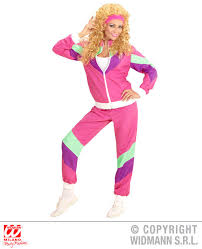 ladies 80s lady shell suit costume for 80s disco pop retro fancy