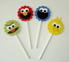 sesame cake toppers cupcake toppers party planners gurgaon